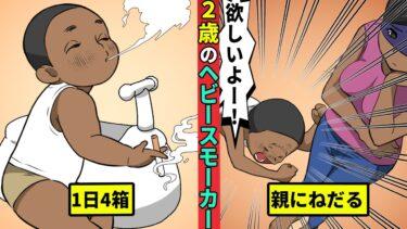 【ミステリー調査団】【実話】毎日たばこを4箱消費!2歳児のヘビースモーカー【漫画】