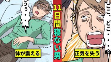 【ミステリー調査団】【ギネス記録】11日間寝なかった男の実話を漫画にした